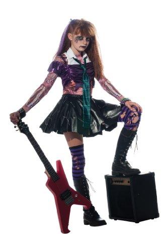 Halloween - Disfraz de Rockera Zombie para niña, infantil 5-7 años (Rubie