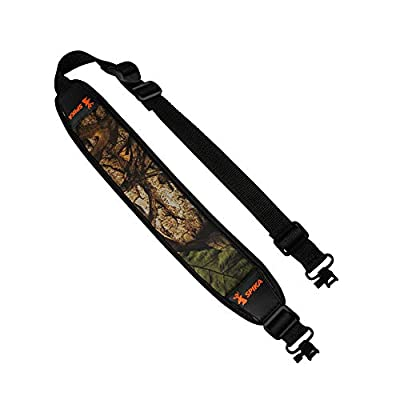 SPIKA Camo Gun Rifle Sling with Swivels,Padding Adjustable Strap for Hunting,Shooting