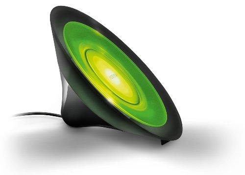 Philips Living Colors Aura, Energiesparende LED-Technologie mit 8 Watt, 16 Millionen Farben, mit Fernbedienung, schwarz 7099830PH - 7