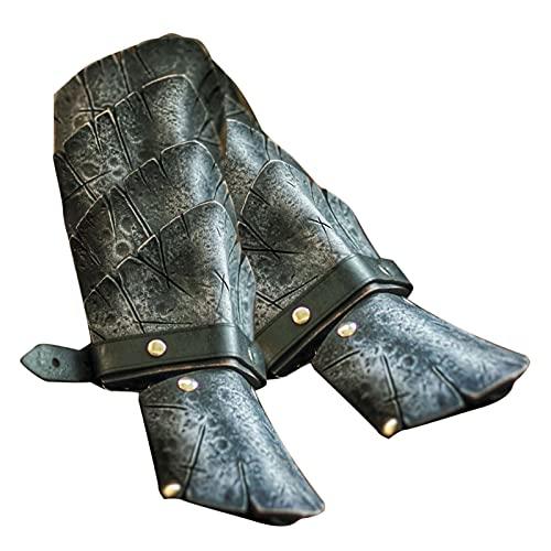 YSSClOTH Armadura de Cuero, guanteletes Medievales, Pulsera, Guardia, Punk, Disfraz...