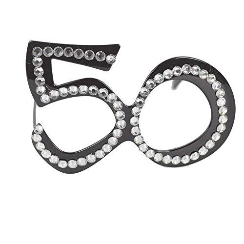 GAKA - Gafas de cumpleaños con Marco de Cristal