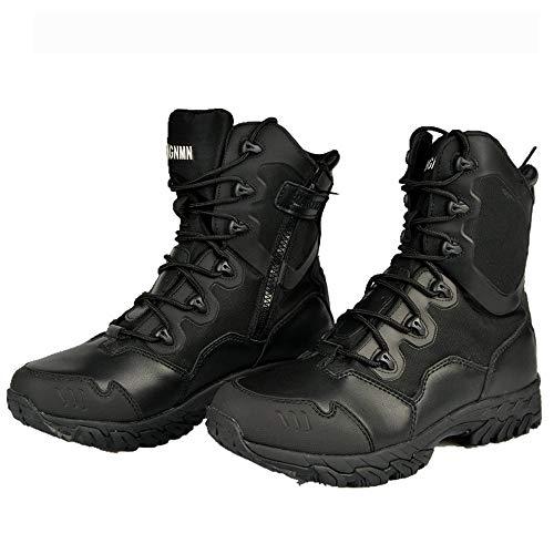 TAOBEGJ Botas Tácticas Botas Militares Combate El Desierto Al Aire Libre Botas Antideslizantes Hombres Escalada Senderismo Trekking Zapatos Entrenamiento para Sargentos,41