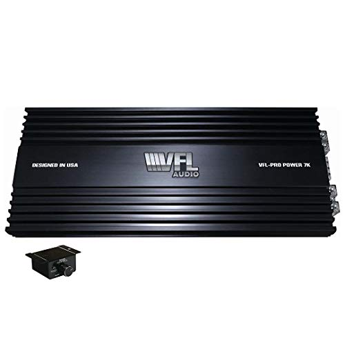 VFL Audio Monoblock 7000W RMS Amplifier – American Bass Class D Amplifier, Car Electronics Car Audio Stereo Subwoofer 1 Ohm Stable Bass Boost MOSFET Full Range Amplifier for Car Speakers Sub Amp