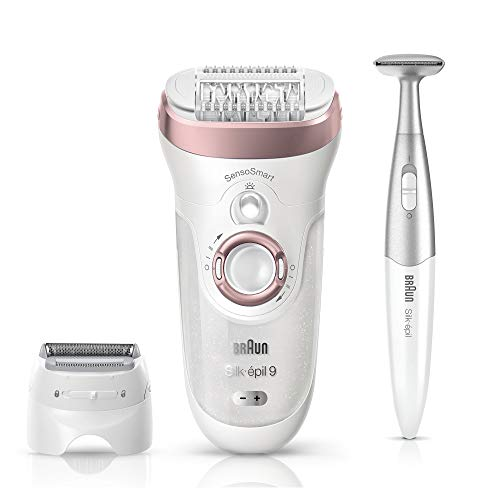 Price comparison product image Braun Epilator,  Hair Removal for Women,  Series 9-890 Silk-Epil Sensosmart Epilator with Shaver and Face / Bikini Trimmer