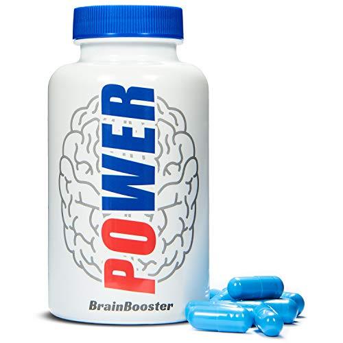 Polpharms - Power Brain Konzentrationsverstärker 60 Kapseln Enthält Ginseng, Ginkgo Biloba, Coenzym Q10 | Es stimuliert das Nervensystem, verbessert das Gedächtnis und stärkt das Gehirn