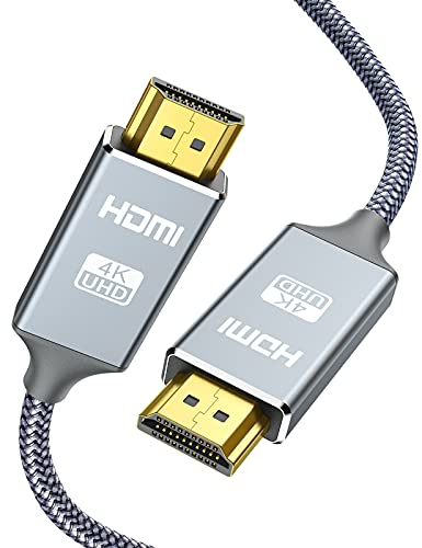 4K HDMI Cable,Capshi 15FT HDMI Cord High Speed 18Gbps HDMI to HDMI Cable,4K, 3D, 2160P, 1080P, Ethernet - 28AWG Braided HDMI 2.0 Cable - Audio Return Compatible UHD TV, Blu-ray, PS4/3, Monitor, PC