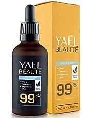 Serum met 99% natuurlijke vitamine C & hyaluron ● Geschikt voor Dermarollers ● Anti-age & antirimpel ● Hoge dosering ● Veganistisch ● 50 ml
