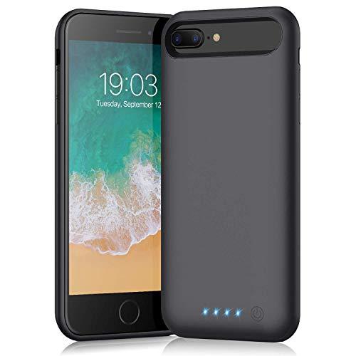 QTshine Cover Batteria per iPhone 6 Plus 6SPlus 8Plus 7Plus, 8500mAh Cover Ricaricabile Custodia Batteria Cover Caricabatteria Battery Case,[5.5  ] Cover Power Bank Backup Charger Case