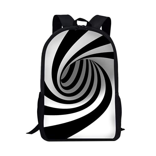 3D Vortex Novelty Backpack, Multi-function Laptop Bag with Ergonomic...