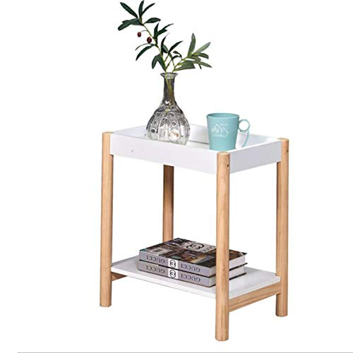 Jcnfa-side table White sofa side table, Narrow side cabinets, Solid wood tray coffee side table, 2 colors (Color : White, Size : 11.81 * 18.89 * 19.68in)