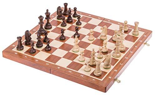 Square - Ajedrez de Madera Nº 5 - Caoba - Tablero de ajedrez + Staunton 5