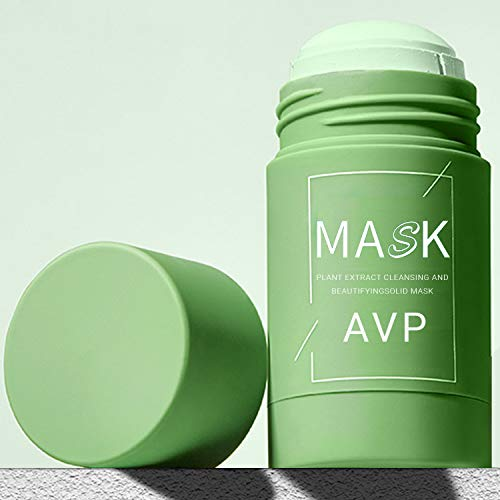 Green Tea Cleansing Mask Purifying Mask Solid Cleansing Mask Smear Type Shrink Pores Soothing Repair Deep Cleaning Face Moisturizer Oil Control Blackhead Removing for All Skin Types