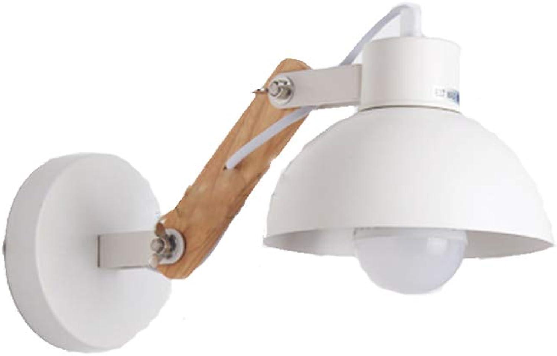 LZH Tischlampe, Verstellbare Nachttischlampe Aus Massivem Holz, Individuelle Studie, Caféwand, Wandleuchte, 6