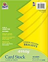 Array Card Stock Brights Lemon