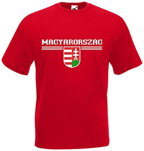 Ungarn Magyarorszag T-Shirt Fanshirt Trikot EM-2021 Rot XL
