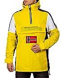 Geographical Norway Chaqueta cortavientos casual para hombre. amarillo XL