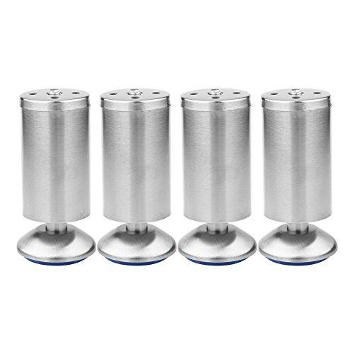 Höhenverstellbare Edelstahl Schrank Beine Küche Füße Arbeitsplatte/Einheit/Frühstück Bar/Schreibtisch Sofa Tischbeine Möbel Beine (4er Pack)(50 * 120MM)