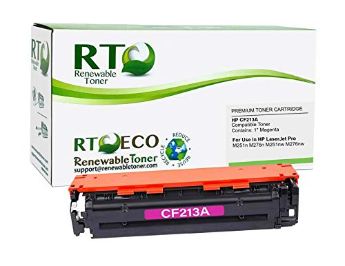 Renewable Toner Compatible Toner Cartridge Replacement for HP 131A CF213A for Color Laserjet 200 M251 M276 (Magenta)