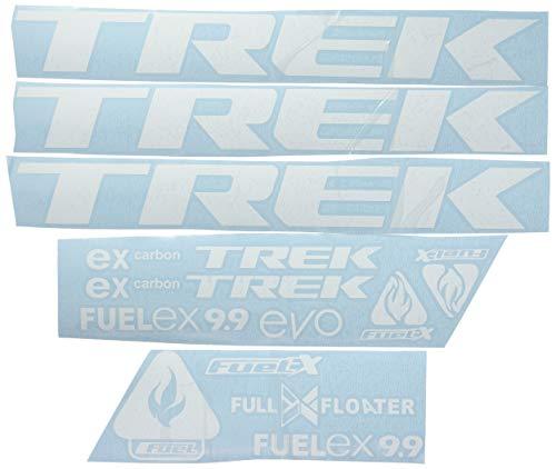 Ecoshirt MY-8C7G-FDAR Pegatinas Trek Fuel Ex 9.9 Bikes F144 Stickers Aufkleber Decals Autocollants Adesivi MTB BTT, Blanco