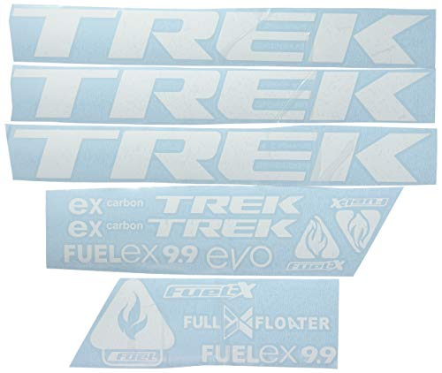 Ecoshirt MY-8C7G-FDAR Autocollants Trek Fuel Ex 9.9 Bikes F144 Autocollants Autocollants MTB BTT Blanc