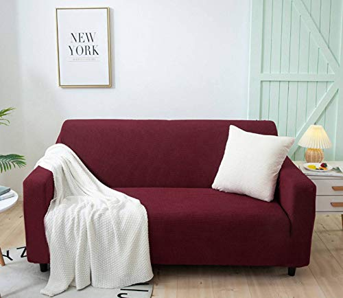 HOCOL Couch Cover Jacquard High Stretch Sofa Covers For 3 Cushion Couch, Pet Dog Cat Proof Slipcover Furniture Protector-A-3 seater(190-230cm)