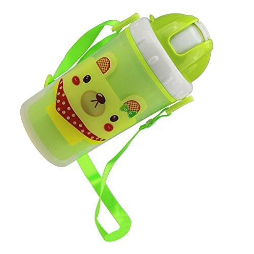 #N/A/a Tazas de Paja de Agua para Niños para Jugo de Leche Botella de Bebidas Deportivas de Picnic Escolar para Niños - Verde, como se Describe
