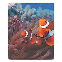 クロス ゲーミング マウスパッド 海のサンゴ礁の魚アネモネピエロ