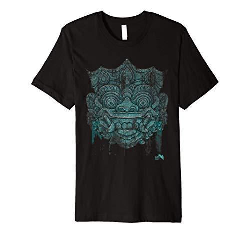 Bali Mask T Shirt Balinese Spiritual Hindu Mythology