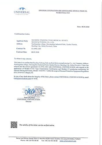 20x einzeln verpackte FFP2 Mundschutz, CE Zertifiziert und DEKRA geprüft nach EN149: 2001 + A1: 2009, Faltbare Halbmasken mit Nasenbügel und weichen elastischen Ohrschlaufen - 7