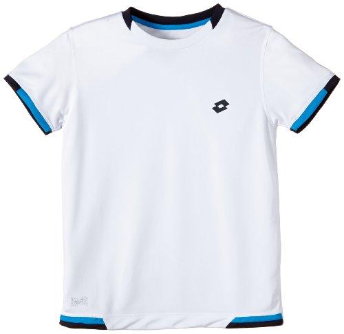 Lotto Tee-Shirt de Tennis Lob pour Garçon XL Multicolore - Blanc/Bleu Marine