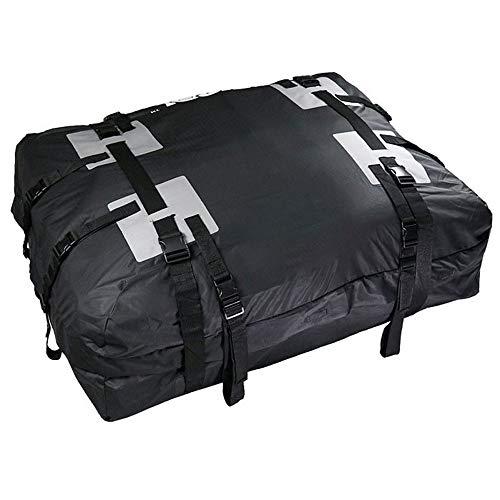 Subobo dakkoffer dakkoffer drager opslag dakkoffer op de top van de auto tas waterdichte draagtas heeft 15 kubieke voeten van de capaciteit zwarte auto achter rekken en accessoires