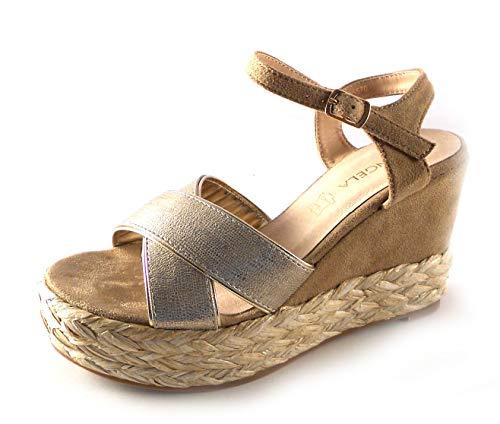 D'Angela Shoes Sandalias Mujer cuña Modelo Janice Color Vison