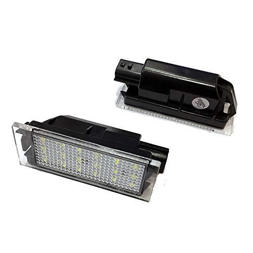 GZLMMY 1 paar auto LED kentekenplaatverlichting kentekenplaatverlichting voor Megane 2 Clio Laguna 2 Renault 3 Twingo Master Vel Satis wit