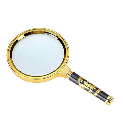 5X Handheld Vergrootglas, Antiek Koper Vergrootglas voor Hobby's, Ouderen lezen, Inspectie, Maculaire Degeneratie
