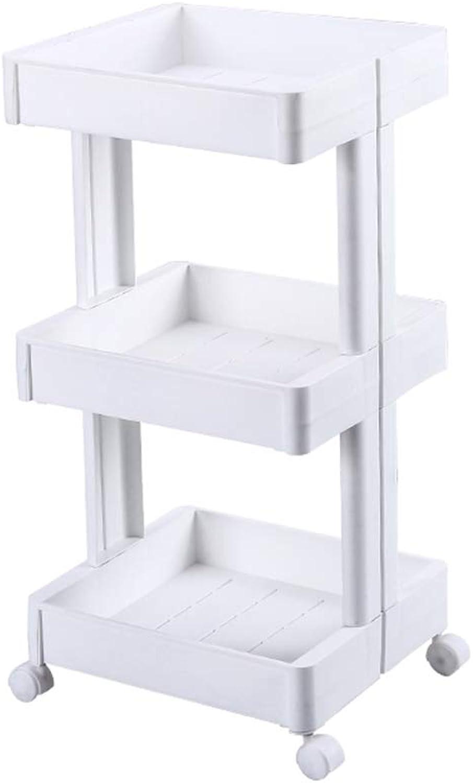 Mabalo Shelf Shelving Storage Rack Storage Cubes W Wheels and Lid,for Living Room Kitchen Bathroom Restroom Garage Storage Shelf Units (Green,3-Tier Rectangle)
