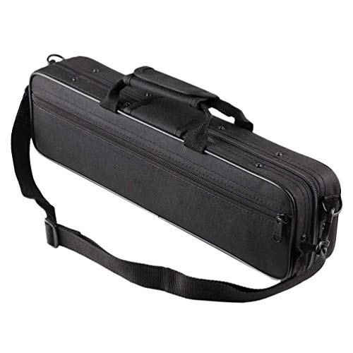 MILISTEN Flötenetui Flötentasche 16-Loch-C-Flötenetui-Abdeckung mit Verstellbarem Schultergurt Und Außentasche für Reisen im Freien (Schwarz)
