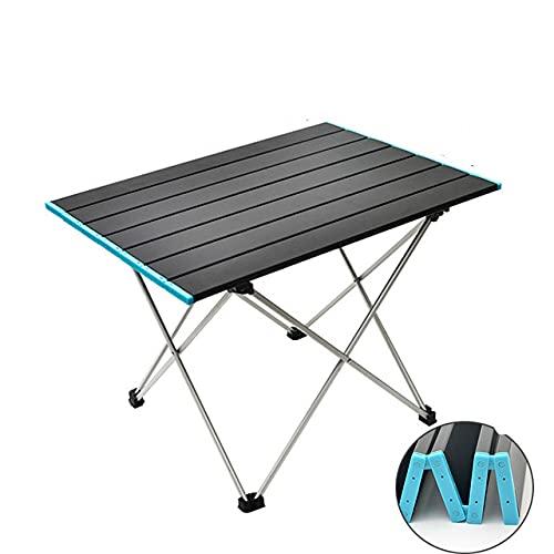 Mesa de Camping Plegable portátil Ultraligera Escritorio de Cena Plegable al Aire Libre Aleación de Aluminio de Alta Resistencia para Barbacoa de Picnic de Fiesta en el jardín - TAMAÑO M