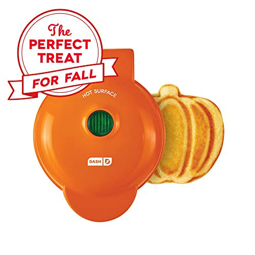 Save %33 Now! Dash DMWP001OR Mini Waffle Maker Machine for Pumpkin Shaped Individual Waffles, Paninis, Hash browns, & other on the go Breakfast, Lunch, or Snacks – Orange