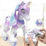 GSNML Juguete Enchanted Unicorn,Juguete Electrónico para Mascotas, Unicornio de Control Remoto, Sensor Educativo, Robot Educativo Interactivo Activado por Voz