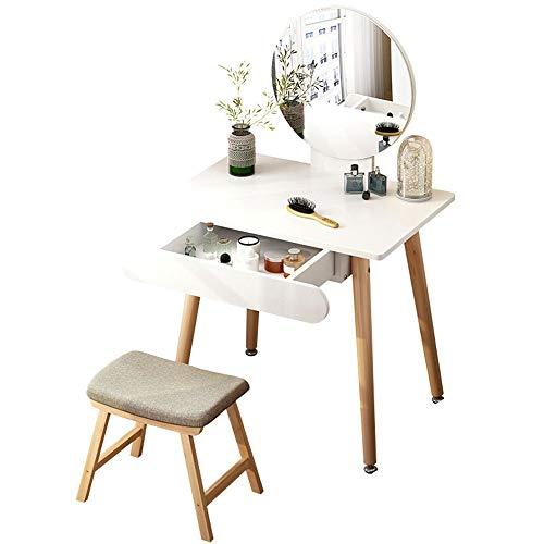 LiChaoWen Make-up dressoir Mini Dressoir Slaapkamer Eenvoudige Dressing Tafel met Gratis Make-up Organizer