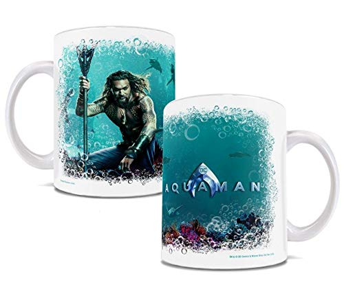 Aquaman Jason Momoa – Underwater with Sharks - DC Comics – Aquaman Movie Ceramic Coffee Mug Collectible