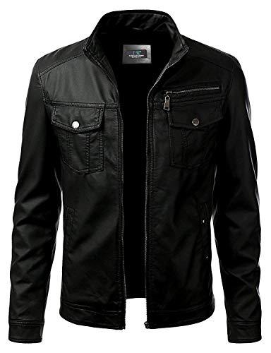 MSR - Giacca in pelle da motociclista per uomo - Giacca in pelle su misura, nero, Costume-Fatto Su Misura