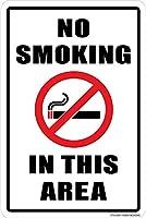 このエリアは禁煙です。金属スズサイン通知道路交通道路危険警告耐久性、防水性、防錆性