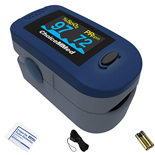 Oxímetro de pulso de dedo ChoiceMMed, MD300C2, oxímetro para medir la frecuencia cardíaca y la saturación de oxígeno (SpO2), dispositivo de monitoreo fisiológico simple, confiable y duradero 🔥