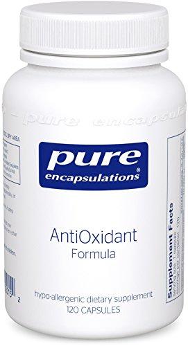 Pure Encapsulations - AntiOxidant Formula - Hypoallergenic Protection Against Free Radicals - 120 Capsules