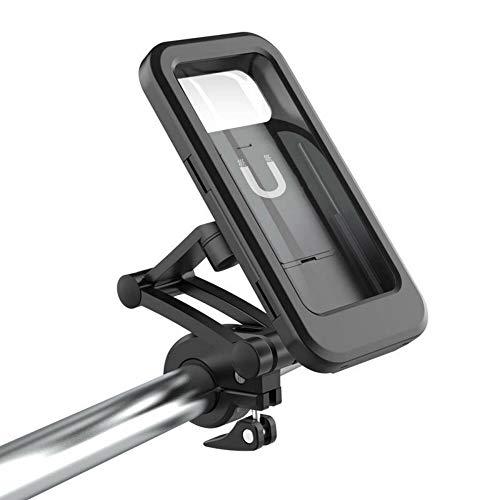 SCOC Soporte Universal para Teléfono De Bicicleta Universal Impermeable Bicicleta Moto Manillar Soporte para Teléfono Montaje 360 ??Grados De Rotación Montaje Móvil