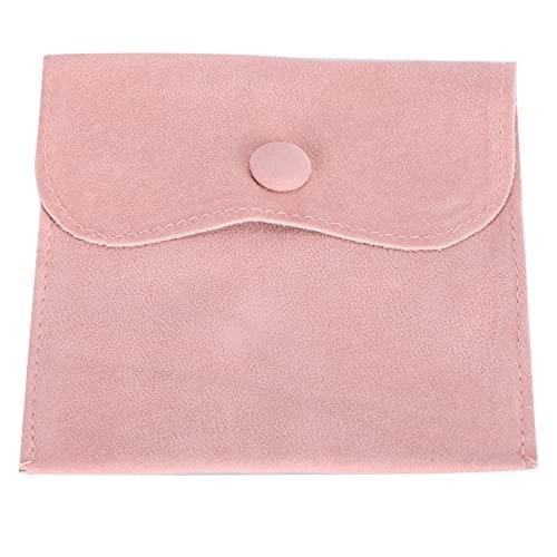 Eosnow Schmucktasche, Schmuck-Organizer-Tasche aus weichem Flanell für zu Hause für unterwegs(Rosa)