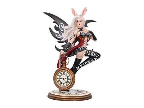 Nemesis Now Figura de Conejo de 20 cm, Resina, Color Blanco, Talla única