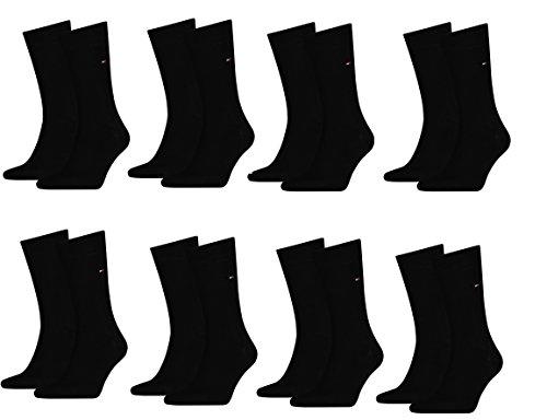 Tommy Hilfiger 39-42 - Calze classiche, confezione da 8 paio, colore: Nero