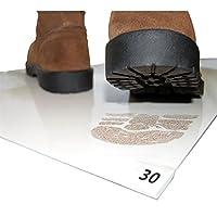 Cleanmo Cleanroom 接着剤/粘着性マット 18インチ×36インチ ホワイト (30枚5パッド) 5パッド 1箱150枚 各パッド30枚。
